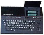 Philips VG-8010 francês com a tampa de slots aberta
