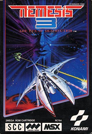 Capa do Nemesis 3 (MSX)