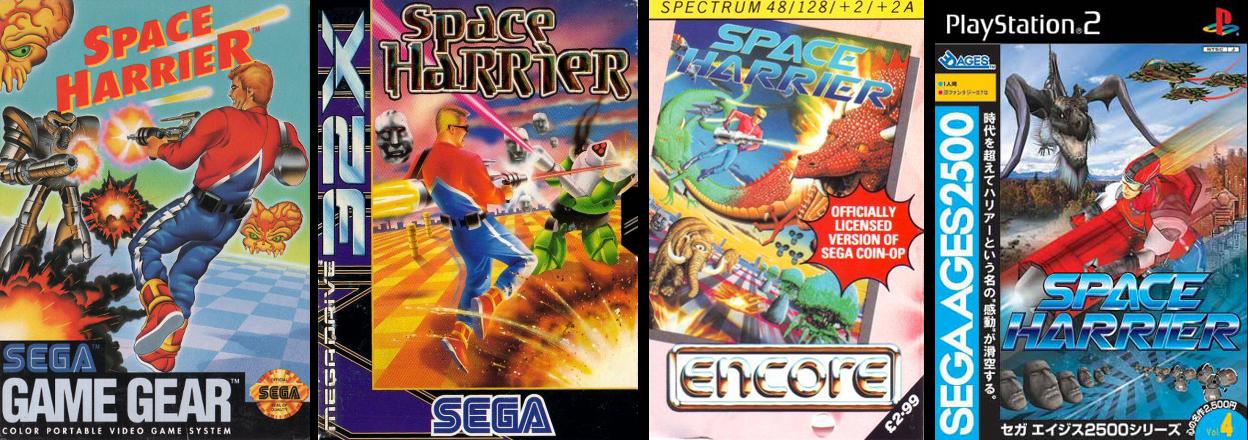 Game Gear (EUA), SEGA 32X (Europa), ZX Spectrum e PlayStation 2