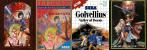 Da esq. para a dir.: MSX, SEGA Mark III, Master System e MSX2.