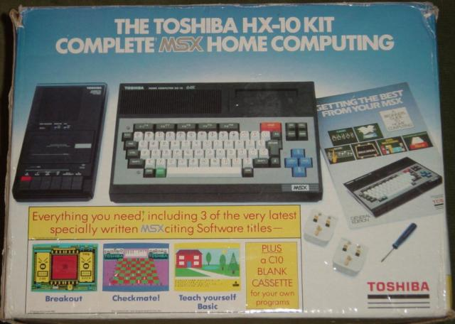 Caixa do Kit Toshiba HX-10 Britânico