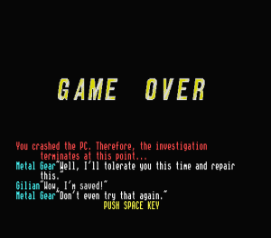 snatcher-msx-gameover